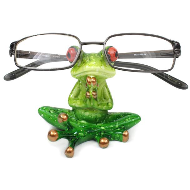 Meditating Frog Eyeglass Holder - WW-247
