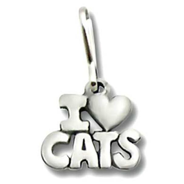I Love Cats Zipper Pull 1942ZP