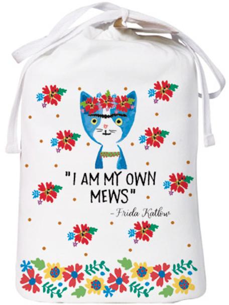 "Cat Theme Sleep Shirt Pajamas ""Frida Katlow - I Am My Own Mews"" 343OT"