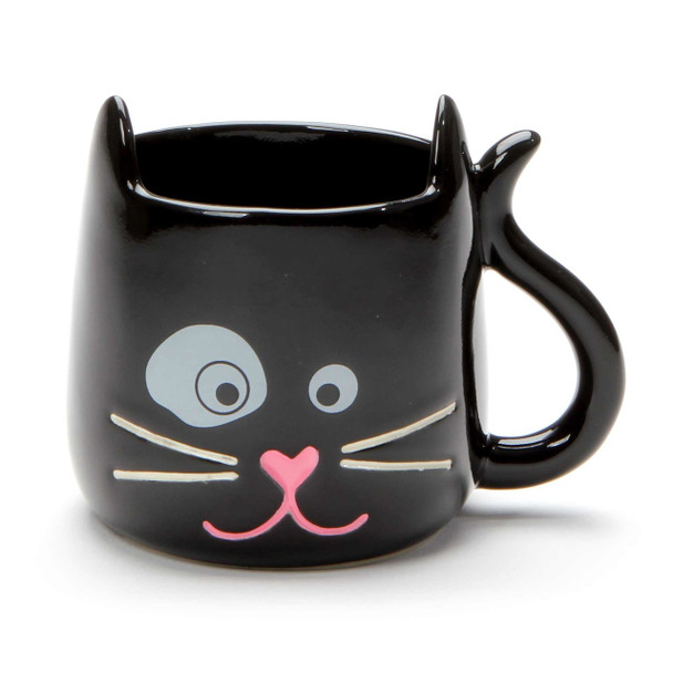 Black Cat Mug - Think Outside the Box - Front
