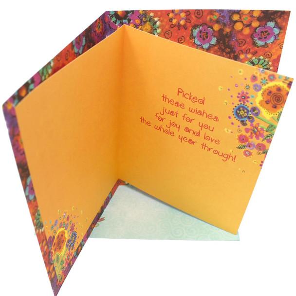 Laurel Burch Birthday Card - Angel Cat - 47270