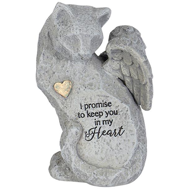 "Cat Angel Figurine ""In My Heart Cat"" Always Near Figurine"