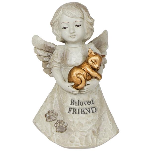 """Mini Cat in Angels Arms Serene Figurine """"Beloved Friend"""" 15463"""