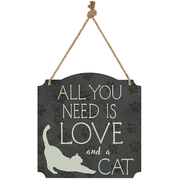Cat Metal Wall Decor - All you need is love and a Cat - 22913
