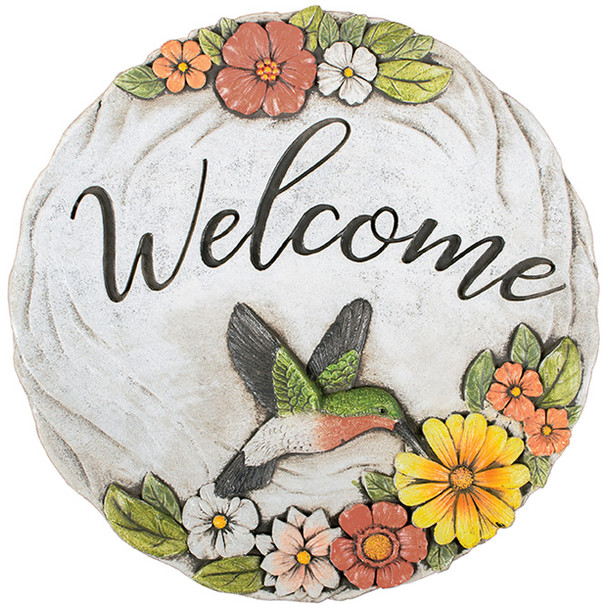 Welcome Hummingbird Themed Wall Decor or Stepping Stone - 11287