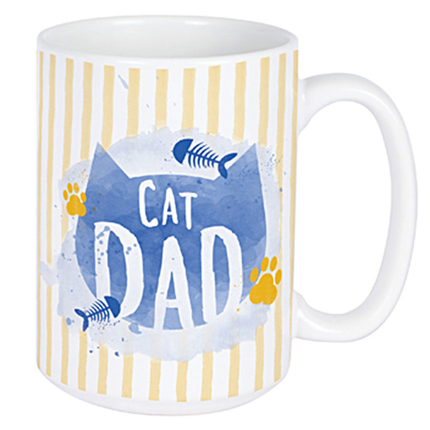Cat Dad Mug - Ceramic Coffee 14oz Mug - 22671