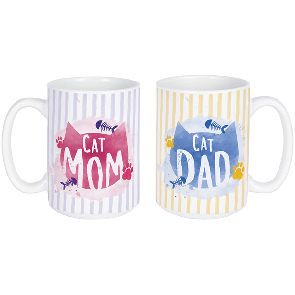 Cat Parents Mug Set - Ceramic Coffee 14oz Mug - 22671
