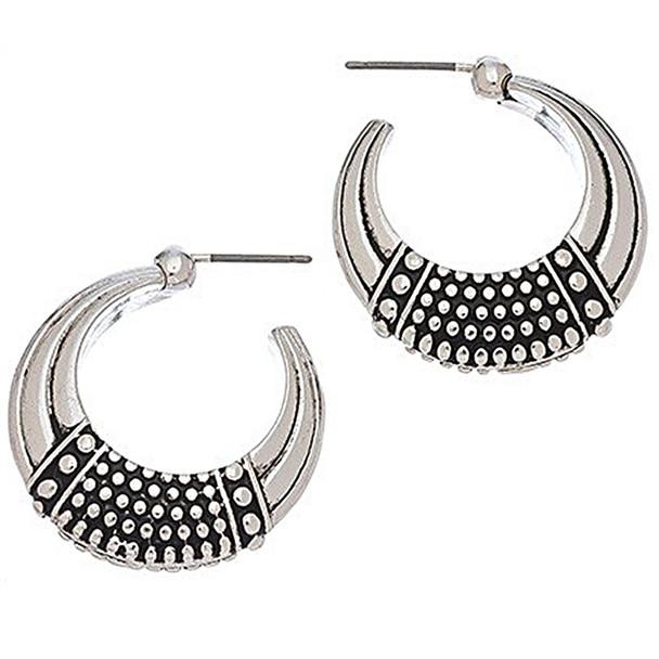 The Egyptian Dot Hoop Earrings - 9277-57A