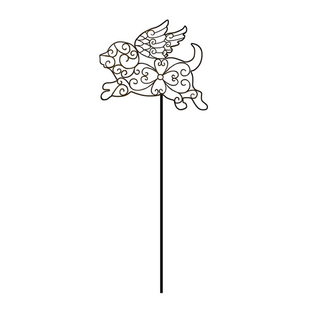Dog Angel - Pet Memorial Garden Stake - ZSK47A