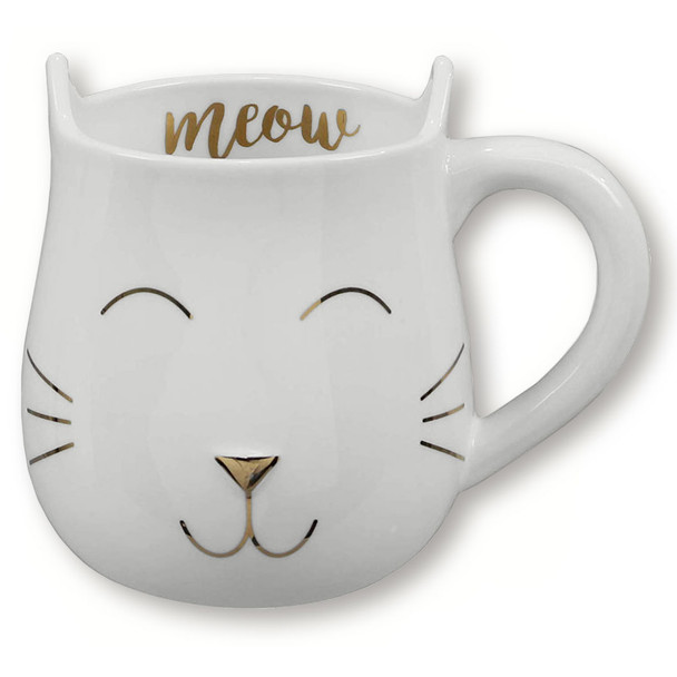 Meow Shaped Cat Ceramic Mug - 18434