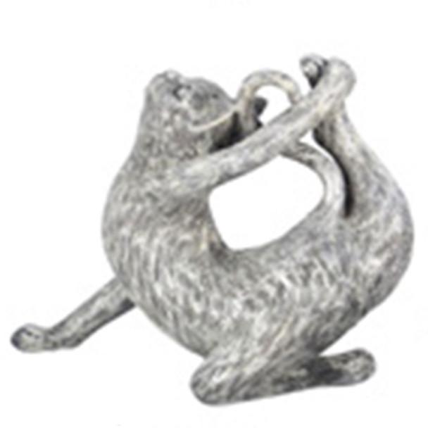 Yoga Cat Figurine - Half Bow  Pose - 18732C