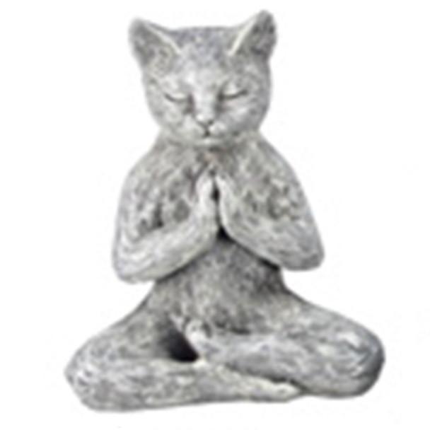 Yoga Cat Figurine - Lotus Prayer  Pose - 18732D