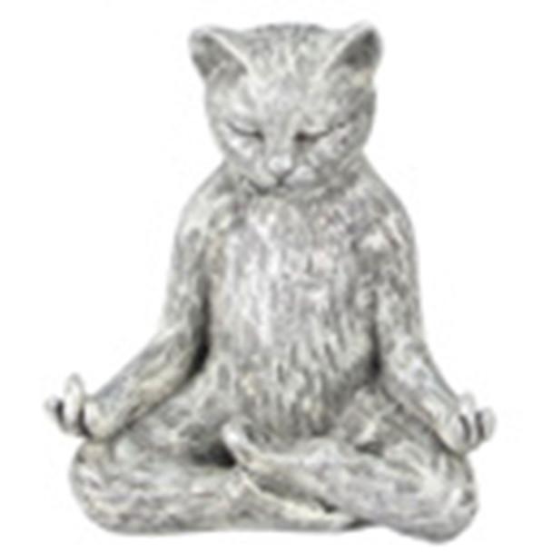 Yoga Cat Figurine - Lotus  Pose - 18732E