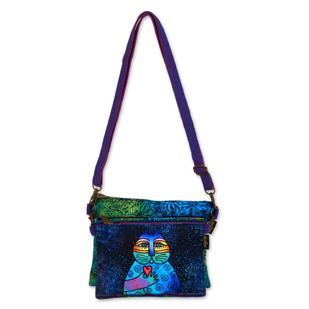 Laurel Burch Wishing Love Cat Two Piece Crossbody Tote – LB6551F