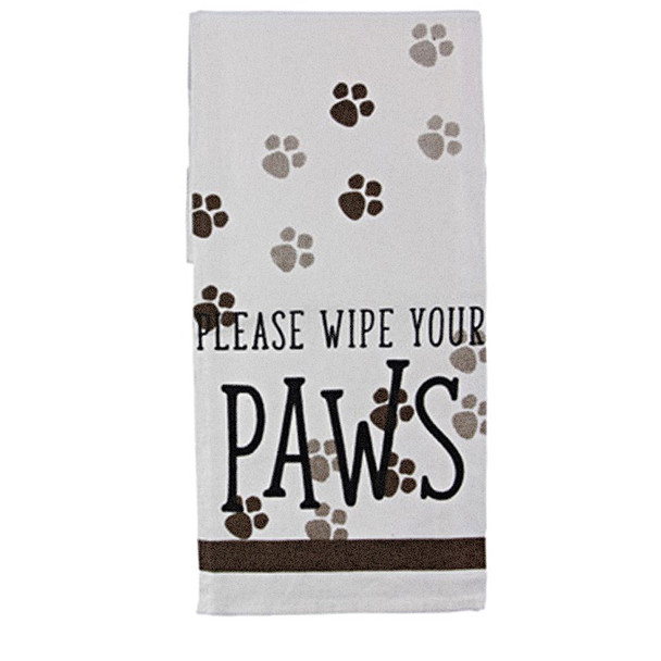 Please Wipe your Paws - Tea Towel