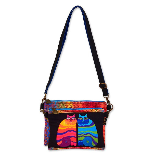 Laurel Burch Rainbow Felines Two Piece Crossbody Tote – LB6551G