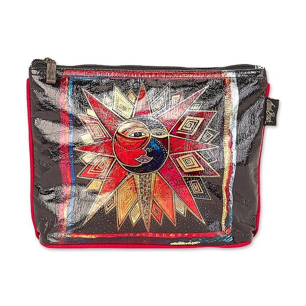 Laurel Burch Foil Sun Moon and Star Dance 10x7 Cosmetic Bag – LB6672