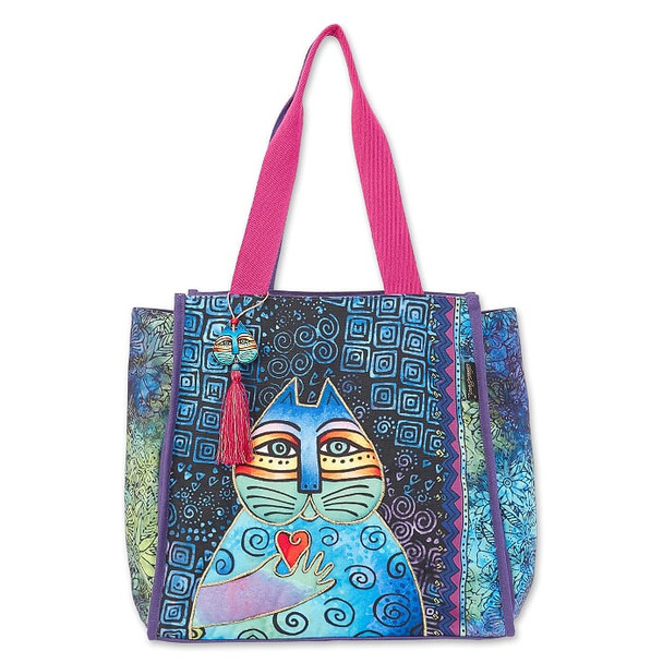 Laurel Burch Cat Wishing Love 21x14 Shoulder Tote – LB6690