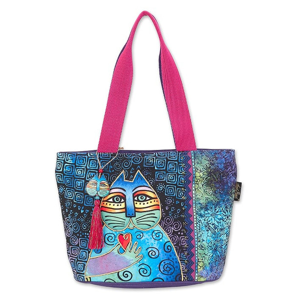 Laurel Burch Cat Wishing Love 15x10 Medium Tote – LB6691