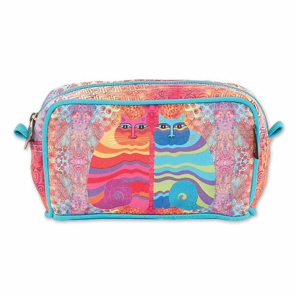Laurel Burch Rainbow Felines 7x4 Cosmetic Bag – LB7003