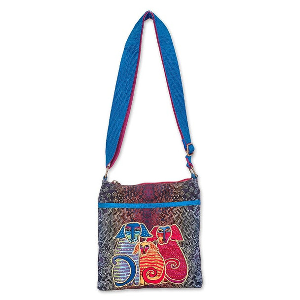 Laurel Burch Doggie Family 10x10 N/S Crossbody Tote – LB7021