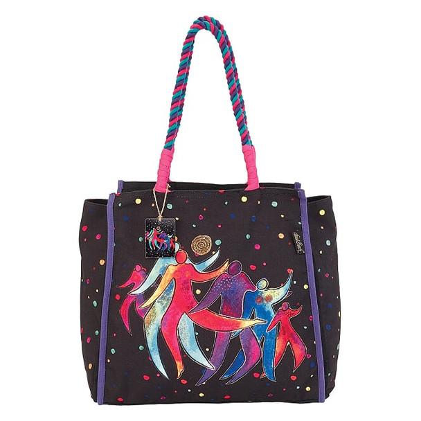 Laurel Burch Rainbow Dancing Spirits 21x14 Shoulder Tote – LB7070