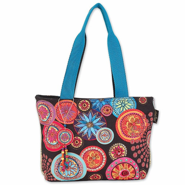 Laurel Burch Kaleidscope Circle Florals 14x10 Medium Tote – LB8001
