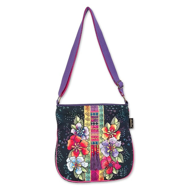 Laurel Burch Floral Stamps 12x11 N/S Crossbody Tote – LB8042
