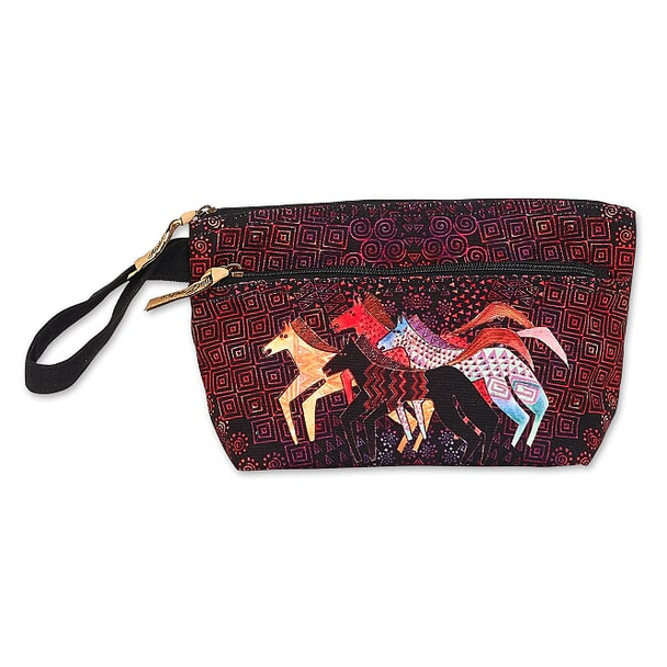 Laurel Burch Native Horses Wristlet with Two Zippers – LB8051B