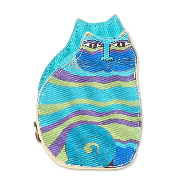 Laurel Burch Cutout Garden Flower Cat Coin Purse – Black – LB8053C