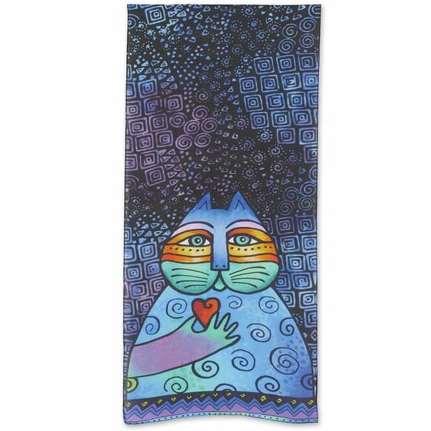 Laurel Burch Feline Wishing Love Scarf – Modal and Silk – LBS218