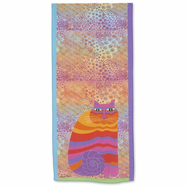 Laurel Burch Rainbow Cat Scarf – Modal and Silk – LBS219