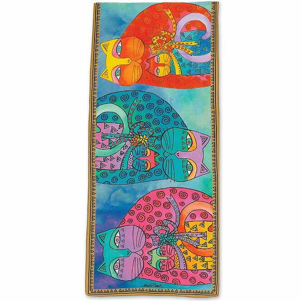 Laurel Burch Feline and Baby Scarf – Modal and Silk – LBS221