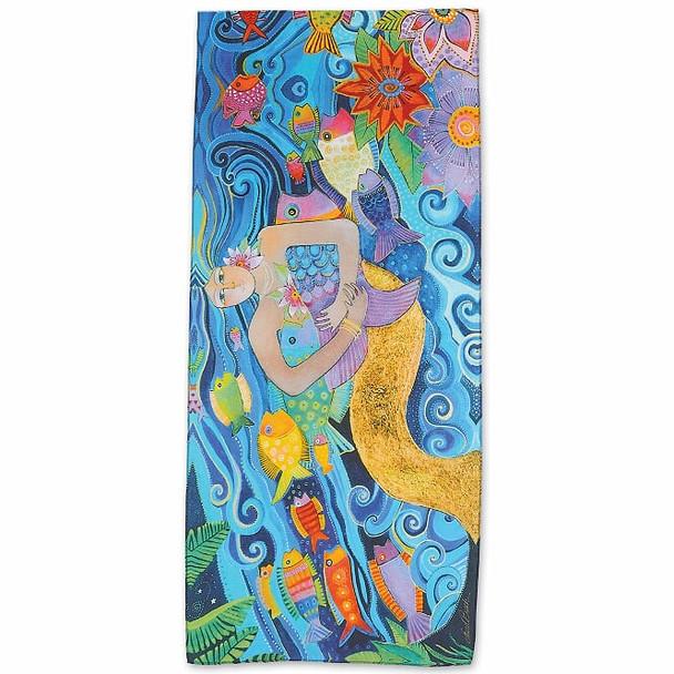Laurel Burch Mermaid Ocean Scarf – Modal and Silk – LBS222