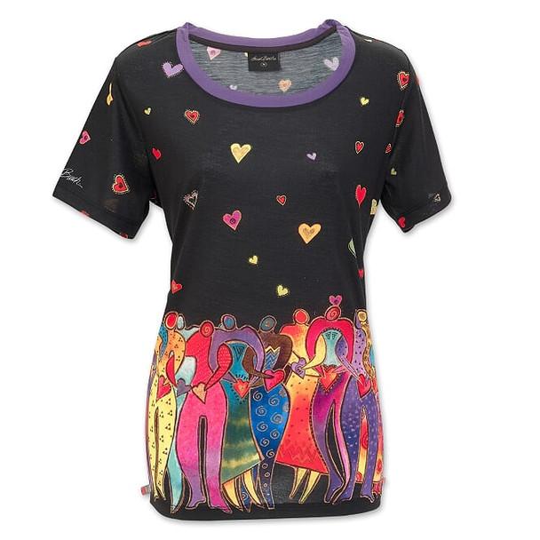 Laurel Burch Dancing Spirits Short Sleeve Tee Shirt – LBT066