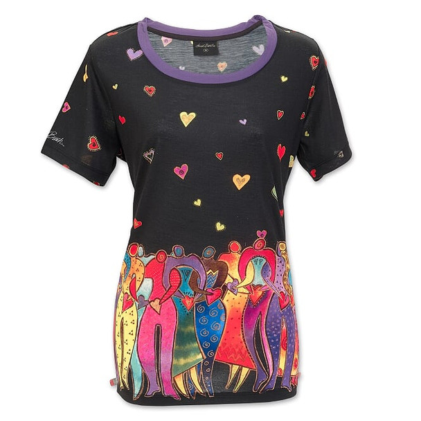Laurel Burch Dancing Spirits Short Sleeve Tee Shirt – LBT066
