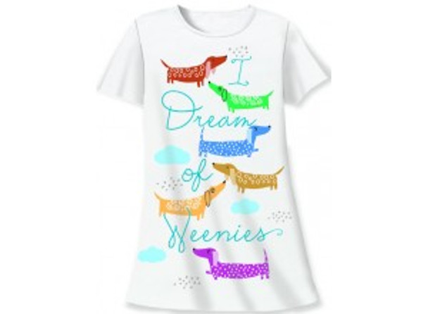 Dream of Weenies Dachshund Theme Sleep Shirt Pajamas 827OT