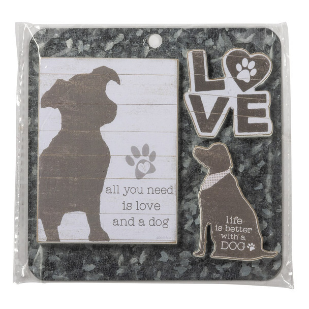 All you Need is Love- Dog Magnet Set - Love And A Dog 135158