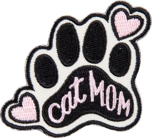 Cat Mom Patch + Card - Just Want To Be A Stay At Home Cat Mom - Patch - 37963