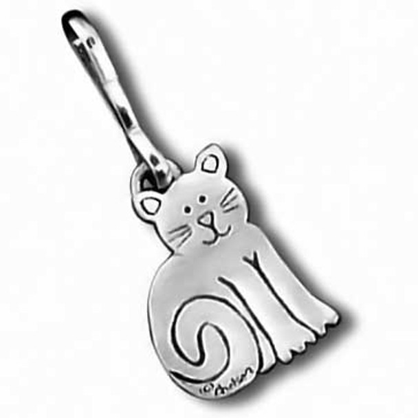 Cat Zipper Pull Sitting Cat 2541ZP