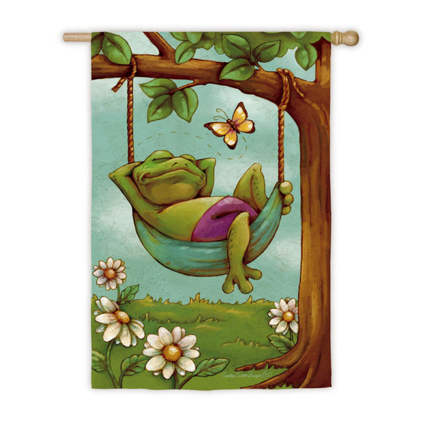 """Day Dreamers Frog Vertical Flag House Flag - 43"""" x 29"""" - 132371"""