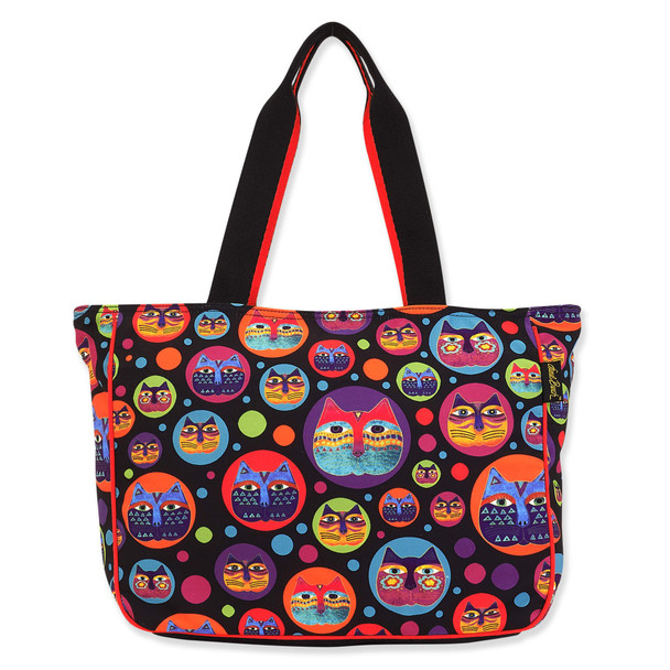 Laurel Burch Feline Faces Canvas Shoulder Tote – LB8110