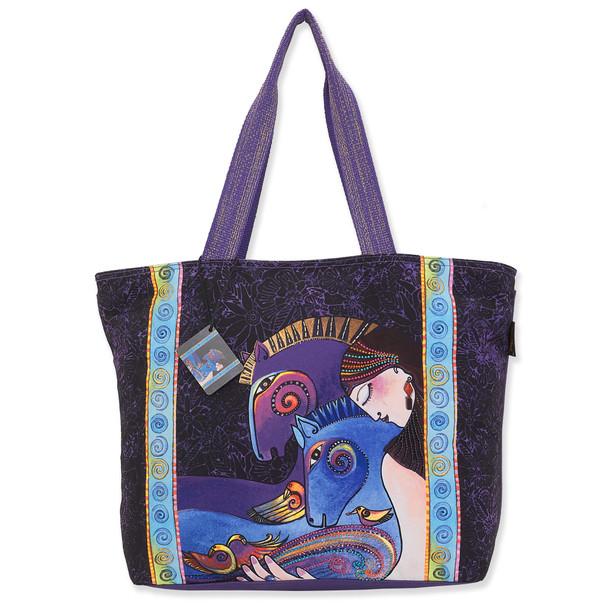 Laurel Burch Maria and Mares Canvas Shoulder Tote – LB8190