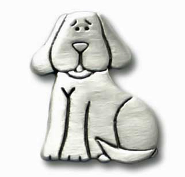 Dog Pewter Clutch Pin 3325CP