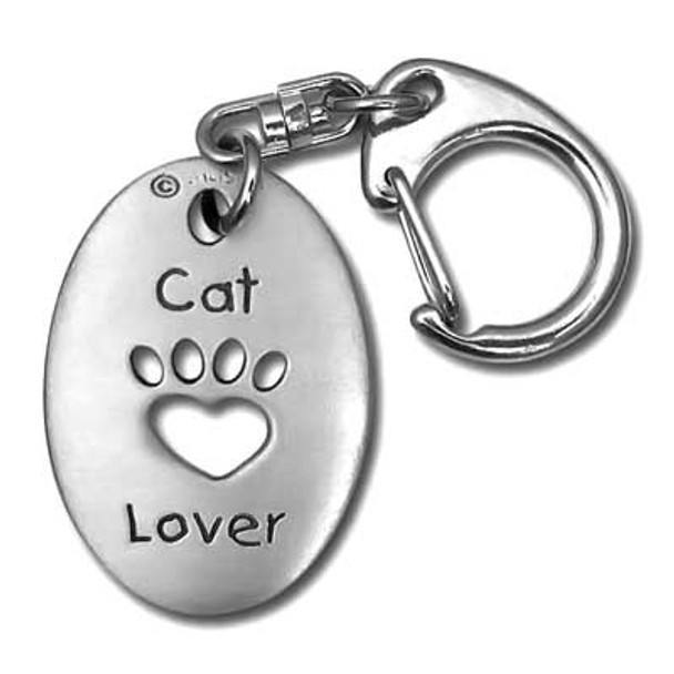 Cat Lover Pewter Key Chain 3430KT