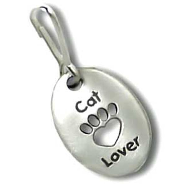 Cat Lover Pewter Zipper Pull 3500ZP