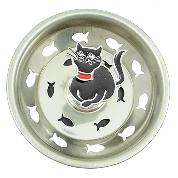 Cat Kitchen Sink Strainer - Black - 35SS