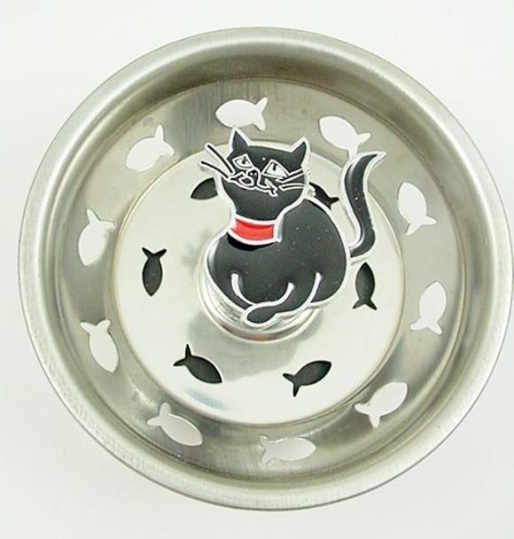 Cat Kitchen Sink Strainer - Black - 35SS