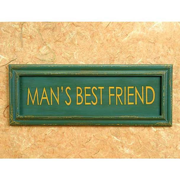 Mans Best Friend Wood Sign 53914F
