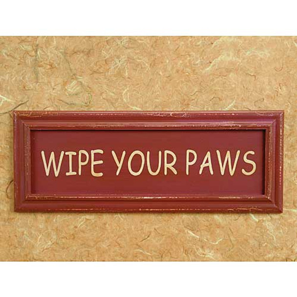 Wipe Your Paws Wood Sign 53914P